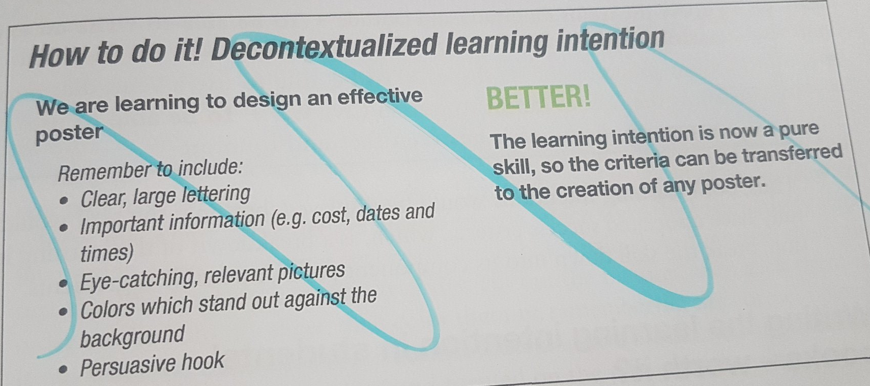 decontextualised learning